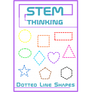 2D Shape Dotted Outlines Clip Art For Math Cut & Paste Activities